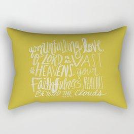 Psalm 36: 5 x Mustard Rectangular Pillow