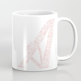 Letter A, Floral A, Monogram A Coffee Mug