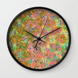 Paint Swirls Abstract Art Wall Clock