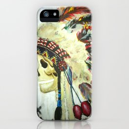 INDIAN WITH HEAD DRESS iPhone Case