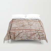 tape Duvet Covers featuring Tape Signs by Motif Mondial