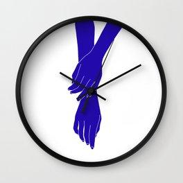 Colour block hands illustration - Effie Wall Clock
