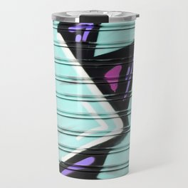 Urban Graffiti Beach Blue Travel Mug