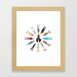 Heroes Circle Group Framed Art Print