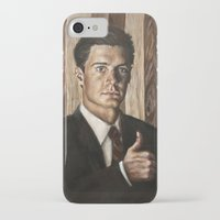 dale cooper iPhone & iPod Cases featuring Agent Dale Cooper / Twin Peaks by Heather Buchanan