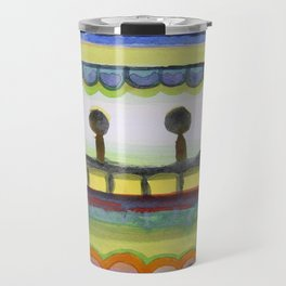 The Seaside Promenade Travel Mug