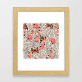 Monarch garden 001 Framed Art Print