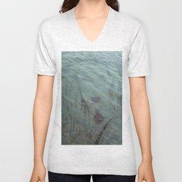 Lake Lady // Double Exposed Unisex V-Neck