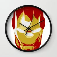 ironman Wall Clocks featuring Ironman by Adel