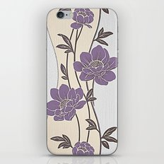Purple Flower Garland iPhone Skin
