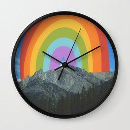 Under the Rainbow Wall Clock