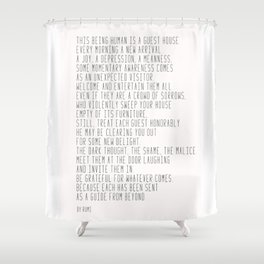The Guest House #poem #inspirational Shower Curtain