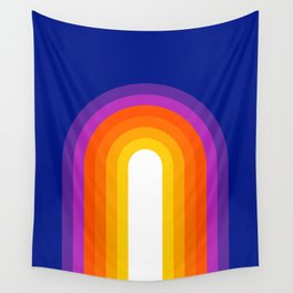 Classic Blue Rainbow Wall Tapestry