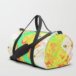 Abstract Geometric Pop Green Peonies Flowers Design Duffle Bag