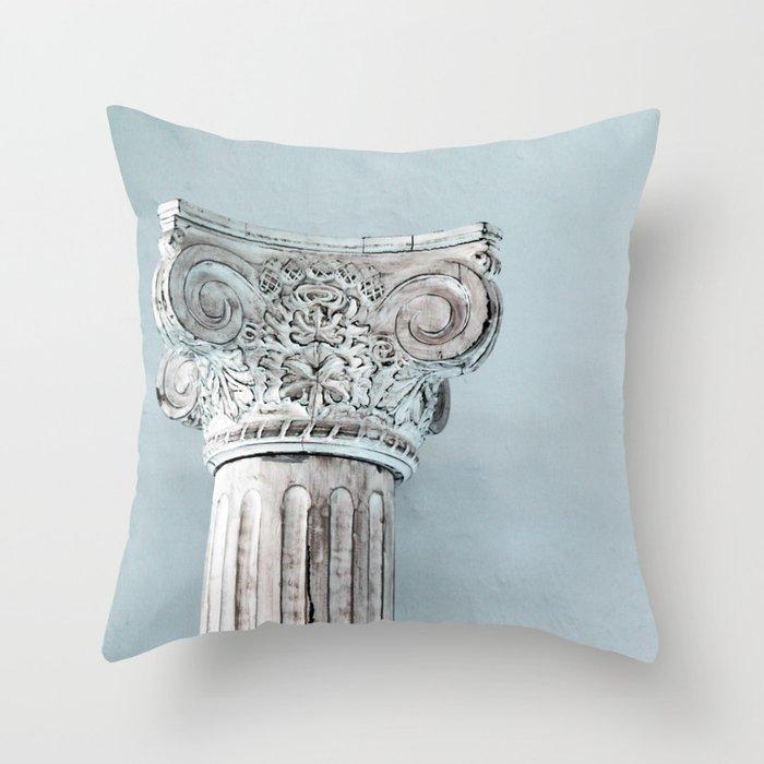 Corinthian capital Throw Pillow
