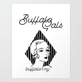 BUFFALO GALS Art Print
