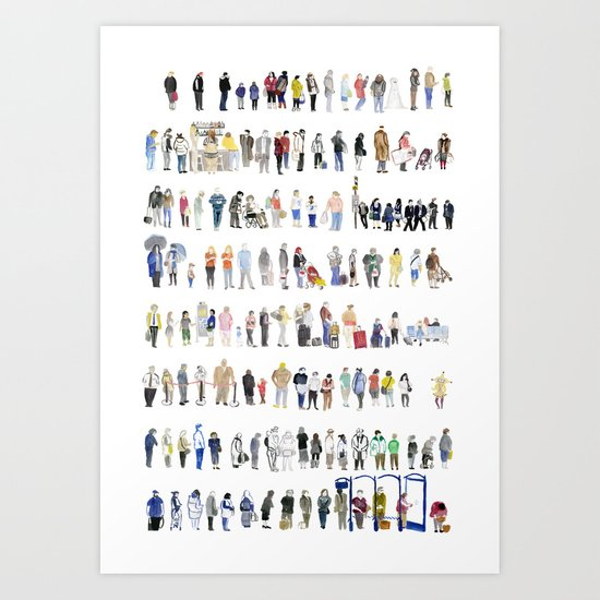 Major Queuing Art Print
