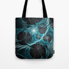 Turquoise Fractal Tote Bag