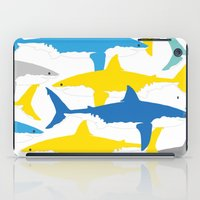 sharks iPad Cases featuring Sharks  by BRITADESIGNS