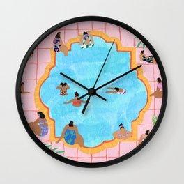 Marigold pool Wall Clock