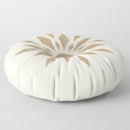 Sunburst Retro - Gold Floor Pillow