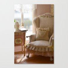 A quiet corner in a paris apartment Canvas Print