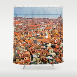 Venice Rooftops Shower Curtain