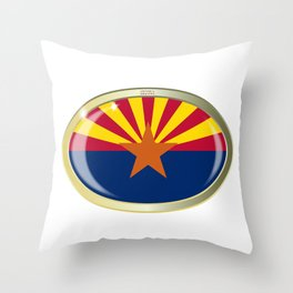 Arizona State Flag Oval Button Throw Pillow