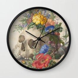 Vanitas Still Life Wall Clock