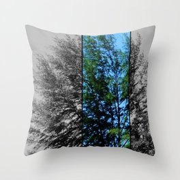 Tree On Seaside Throw Pillow