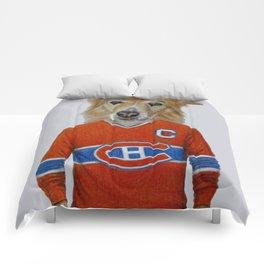 dog in sportwear Comforters