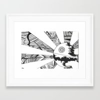 death star Framed Art Prints featuring Death Star by Meg Langmyer