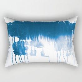 Paint 1 - indigo blue drip abstract painting modern minimal trendy home decor dorm college art Rectangular Pillow
