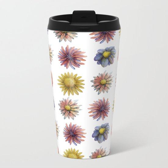 flowers! Metal Travel Mug