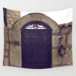 old door in bodrum Wall Tapestry
