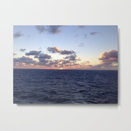 Sunset in the Carribean Metal Print