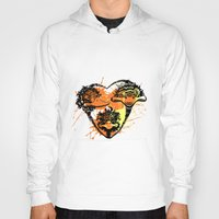 ostrich Hoodies featuring Ostrich couple by SilviaGancheva
