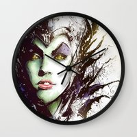 maleficent Wall Clocks featuring Maleficent by Vincent Vernacatola