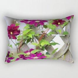 Royal Clematis Rectangular Pillow