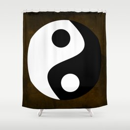 Yin and Yang - Brown Shower Curtain