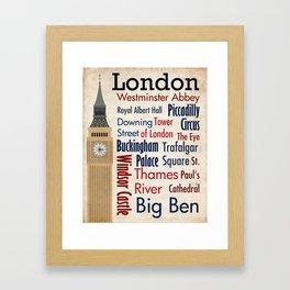 Travel - London Framed Art Print