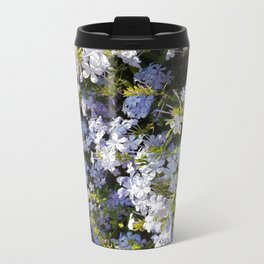 a violet flower in the heart of Athens Metal Travel Mug