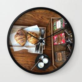 Croissants Wall Clock
