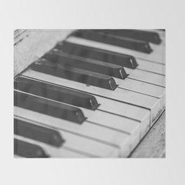 Vintage piano Throw Blanket