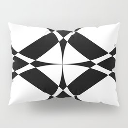 Abstract Circles - Black & White Pillow Sham