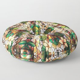 Flower Forest Abstract Floor Pillow