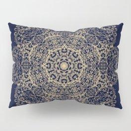 Golden star, mandala Pillow Sham