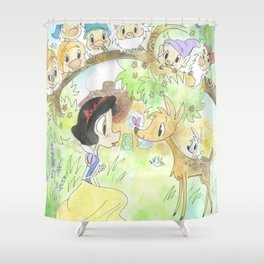 Snow White and the Seven Dwarves Shower Curtain