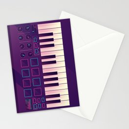 Neon MIDI Controller Stationery Cards