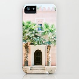 "Travel photography print ""Magical Marrakech"" photo art made in Morocco. Pastel colored. iPhone Case"